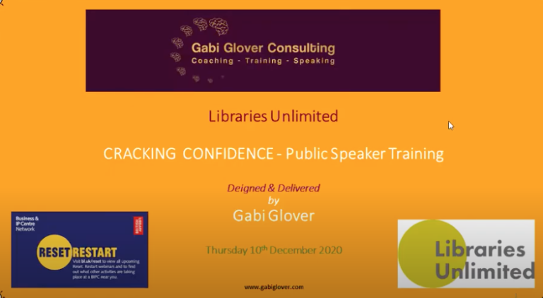 Cracking Confidence Webinar Slide